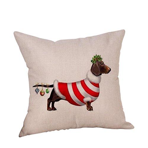 WEIHNACHTEN Home Bett Weihnachten Baumwolle Leinen Staubdicht Waschbar Abnehmbare s Weihnachten Geschenk Größe 45x45 cm