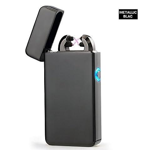 Aokvic Arc Briquet Electrique Rechargeable USB Briquet Sans Flamme Sans Gaz