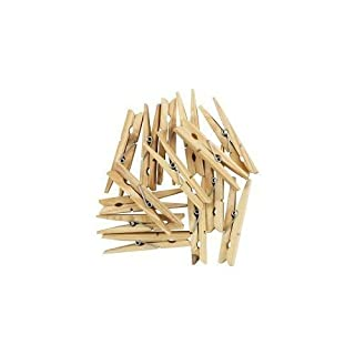 36x HARD WOODEN SPRING PEGS STRONG FOR CLOTHES Lines Airers Driers Laundry