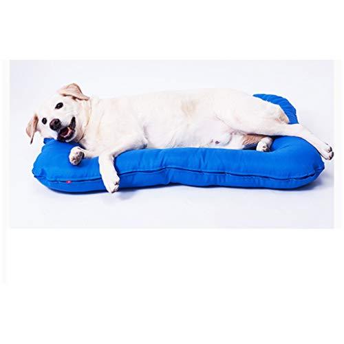 JXLBB Hundematte Winter Großer Hund Abnehmbarer Waschbarer Hundehütte Kleiner Hund Golden Retriever Hundekäfigmatte Schlafmatte Vier Jahreszeiten Winter (Farbe : Blau, größe : XL)