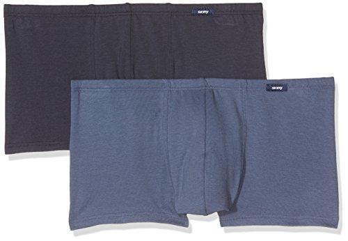 Skiny Herren Retroshorts Advantage Pant Dp, 2er Pack blue selection