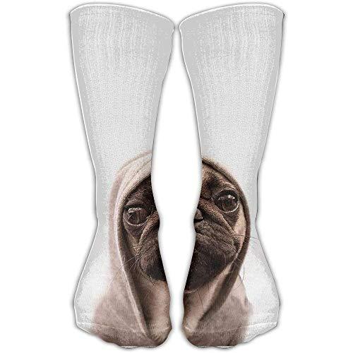 deyhfef Unisex Socken mit niedlichem Mops, Rundumwadenmotiv, für Sport und Reisen -