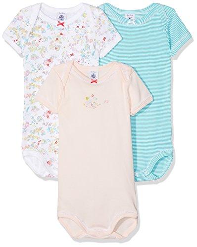 Petit Bateau Petit Bateau Baby-Jungen Taufbekleidung Lot 3p Body 23826 Mehrfarbig (Special 00), 2 Jahre