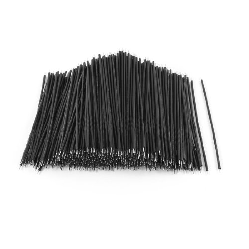 Price comparison product image 500 Pcs Black PVC Tin Plated 0.3x80mm 26AWG Wire Brushless Motor Cable