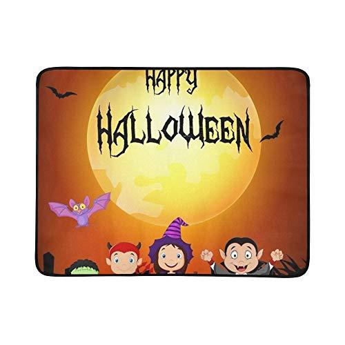Halloween Glückliche Kleine Kinder Kostüm Tragbare Und Faltbare Decke Matte 60x78 Zoll Handliche Matte Für Camping Picknick Strand Indoor Outdoor ()