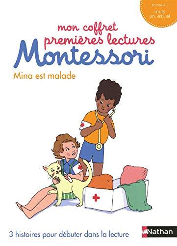 Mina est malade : 3 histoires pour débuter dans la lecture (Mon coffret premières lectures Montessori)
