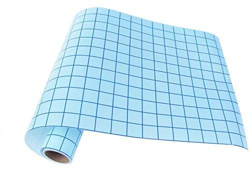QBC Craft Transfer Papier Klebeband mit Gitter für perfekte Ausrichtung der Cricut Silhouette selbstklebendem Vinyl für die Schilder Aufkleber Aufkleber Wände Windows Schriftzug (Shooting Target-papier)