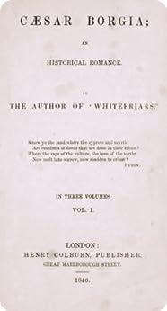 Caesar Borgia: an historical romance V1 (English Edition) di [Robinson, Emma]