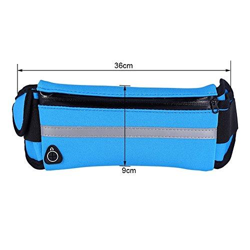 Gürteltasche Sport Hüfttasche Running Belt Tasche Wasserdichte Bauchtasche Mit Verstellbar Gürtel für Radfahren, Wandern, Reisen und Outdoor Sports Blau