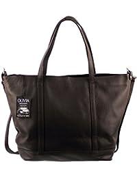 Olivia - Sac à main en cuir marron / chocolat PARME N1127 Sac shopping