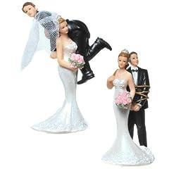 Idea Regalo - Elemento decorativo coppia di sposi, statuetta per torta nuziale 746