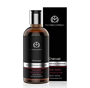 The Man Company Deep Cleansing Activated Charcoal Body Wash - 250 ML (with Lemongrass and Cinnamon Essential Oils) Sulphate & Paraben Free