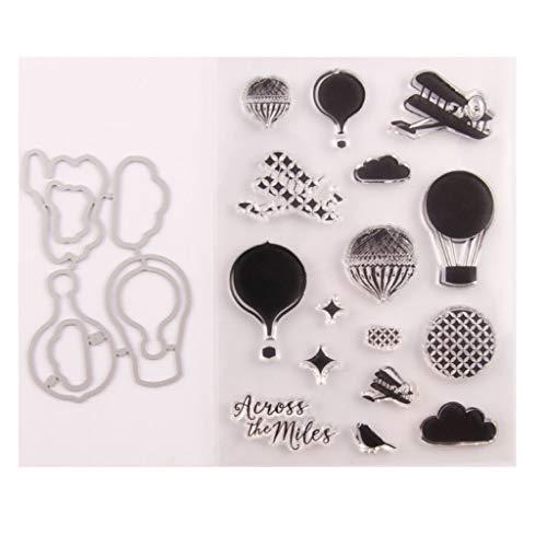 flyWANG Luftballon Siegel Stempel Mit Stanzformen Schablone Set DIY Scrapbooking Fotoalbum Dekorative Papier Karte Handwerk Kunst Handgemacht