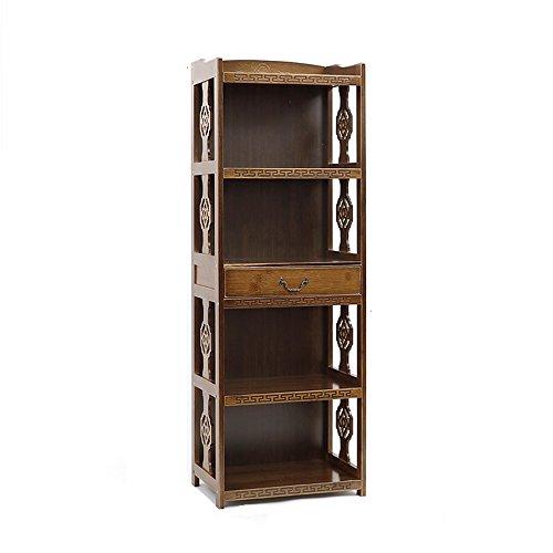 Bibliothèque Sexy Créativité Antique Ancienne de casier de en Bambou rétro avec Le Bureau de tiroir 2/3/4-rangée libèrent la (Taille : 70 * 29 * 123cm)