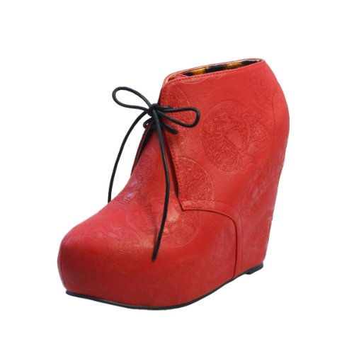 Iron Fist Tigre & Bunny Wedge chaussures Rouge