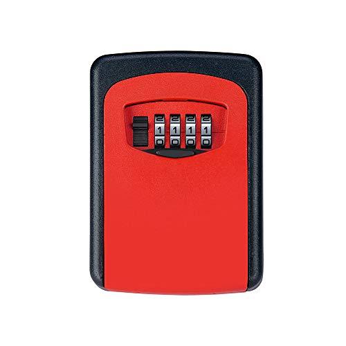 GaoHX Cassetta di Sicurezza, Colore, Cassetta di Sicurezza con Combinazione Digitale per Il Montaggio a Parete, Condividere in Modo Sicuro la Tua Chiave con Gli Altri (Color : Rosso)
