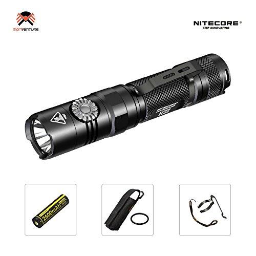 Nitecore EC22 Taschenlampe LED Super Helle 1000 Lumen 500 Stunden Autonomie IPX8 Strahlabstand 185m Taschenlampe mit Stufenloser Helligkeitseinstellung (Mit IMR18650 Akku)