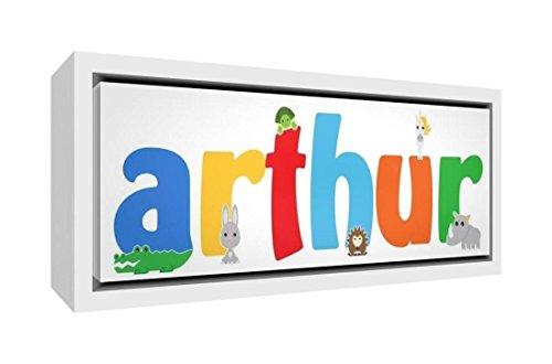 Little Helper Napperon avec Coaster Style Illustratif Coloré avec le Nom de Jeune Garçon Nathan