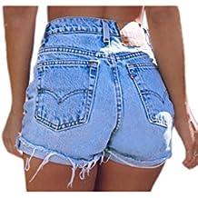 378f59009bd46a Sevozimda Donne di Alta Vita Ringered Frange Caldo Occasionale Jeans  Pantaloncini di Jeans