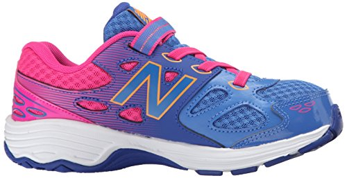 New Balance KA680 Youth Running Shoe (Little Kid/Big Kid) Blue/Pink