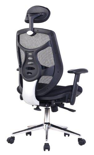 Eliza Tinsley Mesh High Back Executive Swivel Desk Armchair with Chrome Base – Black