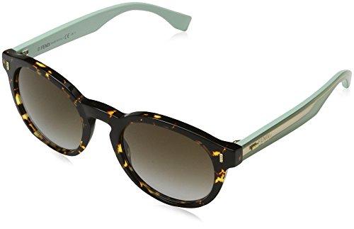Fendi Damen Sonnenbrille Ff 0086, Schwarz (Hvnspttd Grn), 50 Preisvergleich