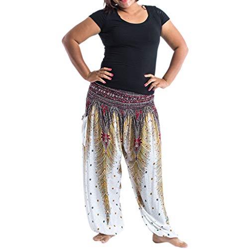 zeithose Baggy Haremshose,Laternen Sport Yoga Hosen Plus Size Frauen beiläufige lose Hippie Yoga Hosen Laterne trägt Yogahosen zur Schau Baggy Böhmen Casual Pants ()