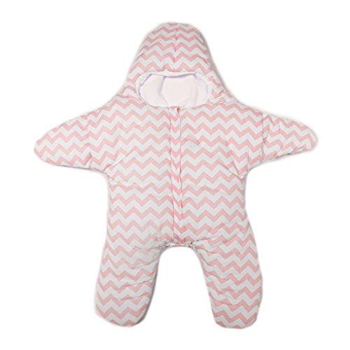 QHGstore Kleine Starfish Schlafsack Baumwolle Baby-Schlafsack Leichter heiß blau Blau