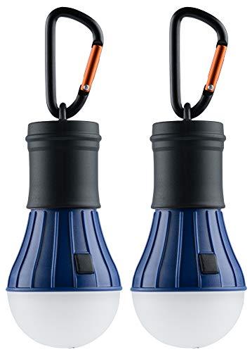munkees 2 x Camping Accessories I Zubehör I Hochwertige LED Campinglampe I Lantern Light I Wasserdicht ohne Strom, Blau Doppelpack 10086