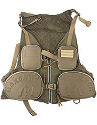 Gazechimp Gilet Veste de Pêche Ajustable Multi-poches Maille à Séchage Rapide - Vert d'Armée