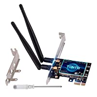 ‏‪TGVi's Wireless PCIE WiFi Card for Desktop PC 600Mbps, Dual Band (300Mbps 5GHz + 300Mbps 2.4GHz) WiFi Adapter, Internal Network Card for Windows XP 7 8 8.1 10, Compatible for PCIE X1/X4/X8/X16 Slot‬‏