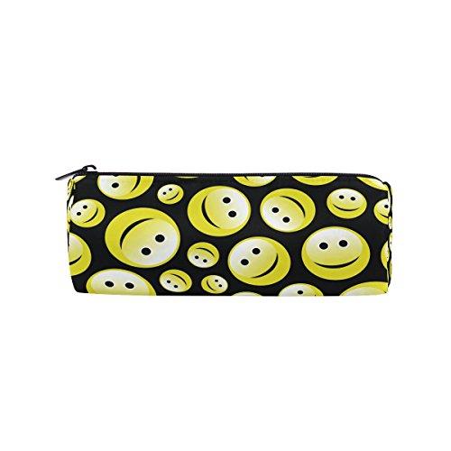 bennigiry Emoji Smiley Federmäppchen Pen Tasche–funktionellen Stationery Tasche Tasche mit Reißverschluss, Student Reißverschluss Bleistift Inhaber Tasche Geschenk Travel Make-up Tasche