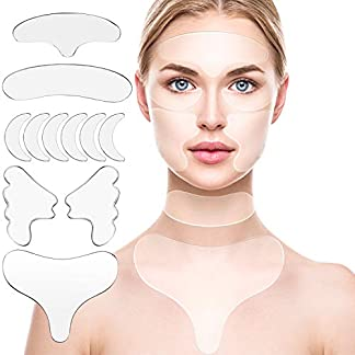 10 Almohadilla de Silicona el Pecho, Almohadilla de Escisión Que Incluye Almohadilla de Silicona Reutilizable Parche para El Cuello Almohadilla Máscara de Los Ojos Palillo Mejilla y Almohadilla Frente