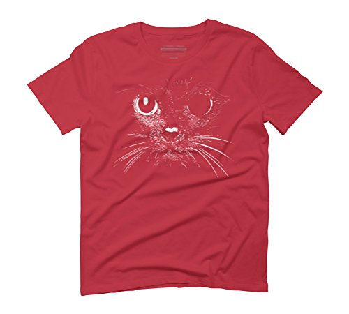 BROKEN CAT Men's Graphic T-Shirt - Design By Humans Red