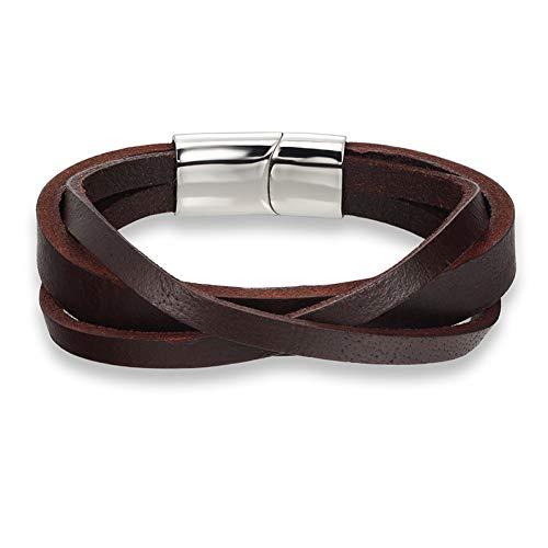MHOOOA Leder Männer Armband Schmuck Mann Anker Armband Armband Charm Braclet für männliche Accessoires Hand Manschette