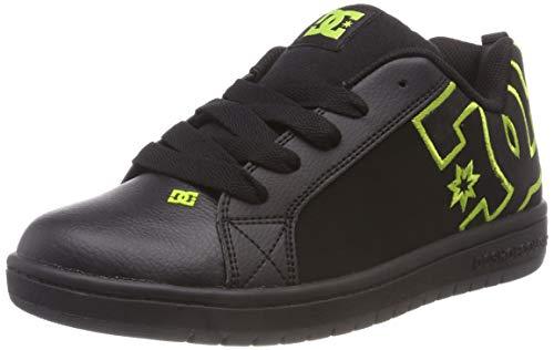 DC Shoes Jungen Court Graffik Skateboardschuhe, Schwarz Black/Soft Lime Bk9, 38 EU