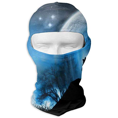 Sdltkhy Neck Scarf Sunscreen Hats Wolf Lookout Sun UV Protection Dust Protection Wind-Resistant Face Mask for Running Cycling Fishing