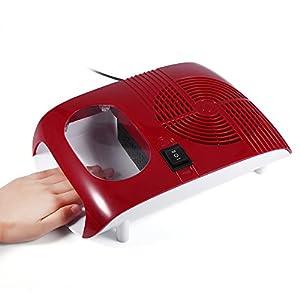 Nannday Secador de Esmalte de uñas con Ventilador de Aire Caliente y frío