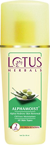 Lotus Herbals Alphamoist Alpha Hydroxy Skin Renewal Oil Free Moisturiser, 80ml