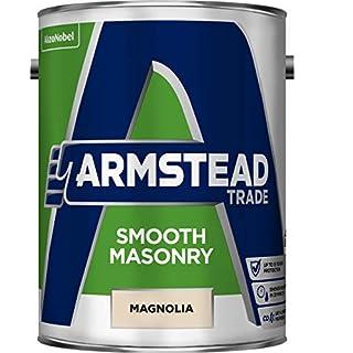 Armstead Trade Smooth Masonry Paint Magnolia 5 Litres