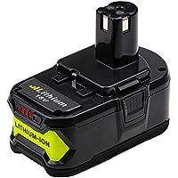 Eagglew RB18L50 18V 5.0Ah Li-ion Reemplazo Batería para Ryobi One+ P108 P105 P102 P107 P104 RB18L40 RB18L25 RB18L15 RB18L13 (con indicador LED)