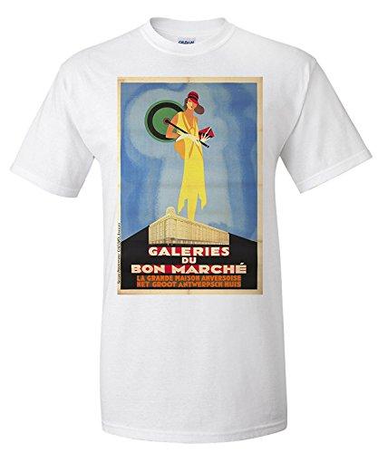 galeries-du-bon-marche-vintage-poster-belgium-c-1929-premium-t-shirt
