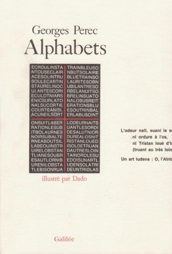 Alphabets par Georges Perec