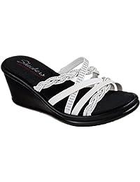 b9a42585a746 Skechers Women s Rumblers Baubles-Beaded Multi-Strap Slide Wedge Sandal