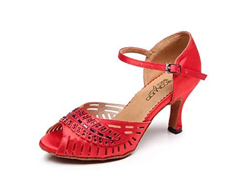 Lateinamerikanische Tanzschuhe für Damen Salsa/Tango/Chacha/Samba/Moderne/Jazz Tanzsandalen High Heels, BlueHeeled7.5cm-UK3.5 / EU34 / Our35