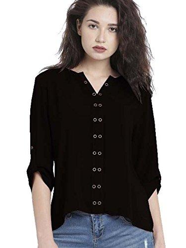Leriya Fashion Women's Diamond Crepe Western Top (LF-w1092)