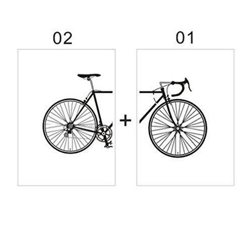 MINRAN DECOR A Impression sur Toile - No Frame Image sur Toile - Moderne Motif de Bicyclette d'art Noir et Blanc - Tableaux pour la Mur - Motif Moderne - Décoration, 5, 21x30cm