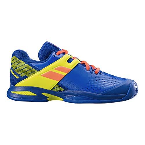 Babolat Bambini Propulse Allcourt Junior Scarpe da Tennis Scarpa per Tutte Le Superfici Blu - Giallo Limone 39