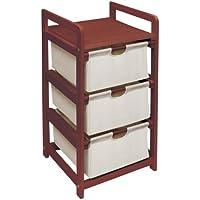 Badger Basket Company Cesto con tre cassetti Unità in ciliegio