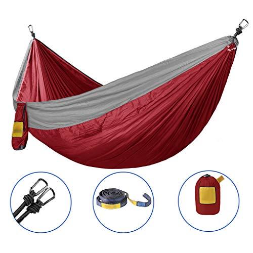 Zmsdt Hamac Portable Double Personne Camping Survie Jardin Loisirs Voyage Meubles Parachute Hamacs (Couleur : A)